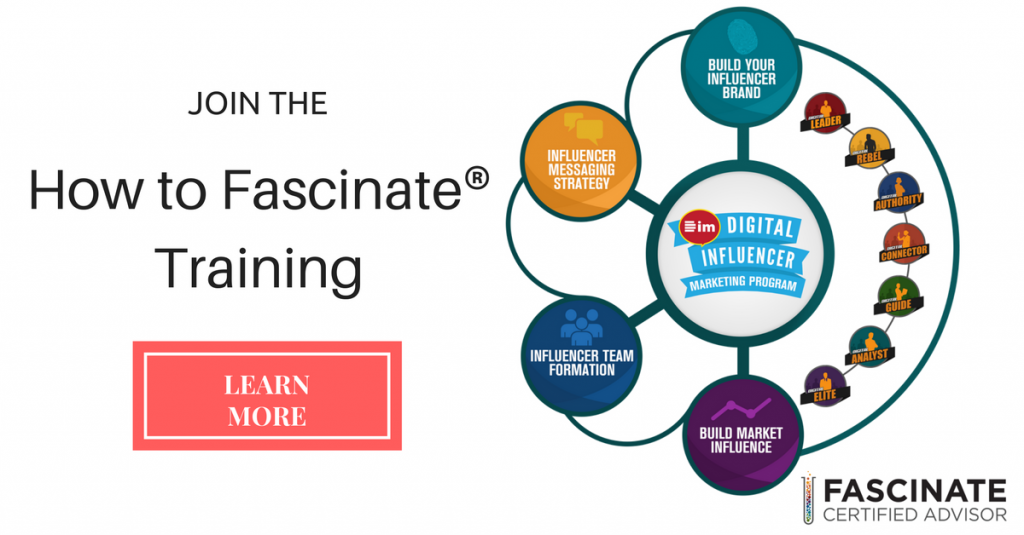 "Join ""How to Fascinate®"" Training"