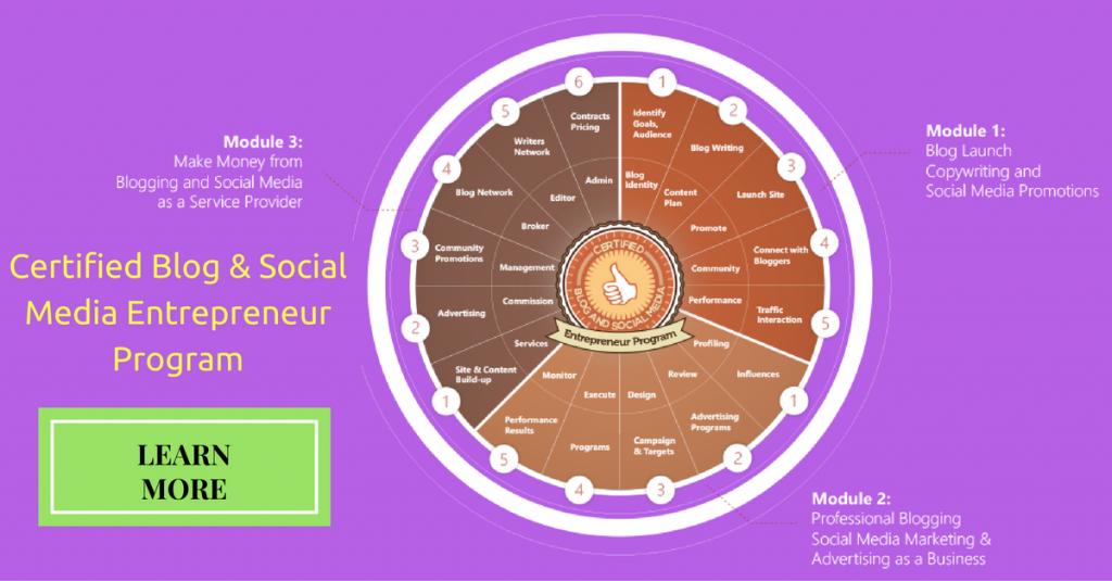 Certified Blog and Social Media Entrepreneur Program